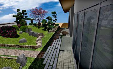 備前市麻宇那T様ガーデンCADパース02